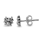 Spooky Spider Sterling Silver Stud Earrings