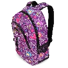 Blackboard Check Drawing Back to School Backpack in Purple with Colorful Chalkboard Drawings.