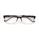 Clear and Black Iconic Readers Reading Glasses +1.25