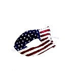 Red White and Blue Glittering American Flag Patriotic Masquerade Halloween Mask