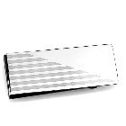 Silver Tone Stainless Steel Money Clip with Striped Etching Detail