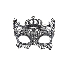 Black Filigree Lace Queen Costume Party Halloween Masquerade Ball Eye Mask