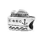 Cheneya Sterling Silver Cruise Ship Bead