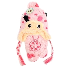 Kids Pink and Magenta Ladybug Knit Hat and Scarf with Ploka Dots.