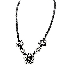 Fabulous Necklace with Sterling Silver Flowers and Butterflies