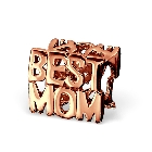 Cheneya Rose Gold Plated Sterling Silver Best Mom Bead