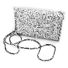 Evening Bag with Strap in Pure Sterling Silver