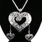 Great Heart necklace and Earrings