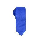 Stylish Silky Poly Satin Solid Slim Royal Blue Tie