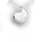 Sterling Silver Heart Pendant with SISTER Inscription