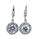 Royal Style Sterling Silver and Cubic Zirconia Earrings