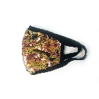 Reversable Copper Gold and Blue Shiny Sequins Face Mask, Comfortable Cotton Lining