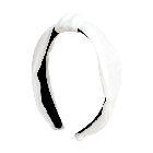 White Satin Solid Color Knot Headband Hair Accessory