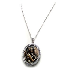 Rhodium plated brass necklace decorated with white diamond 1 pc. 18 chain.