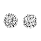 14K White Gold and Diamond Stud Earrings, 1.05ctw