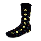 """Mens \""""#1 Dad\""""  Novelty Socks in Black and Yellow"""