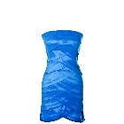 Juniors Blue Layered Tube-Top Bandage Style Satin Look Dress, Size Large