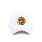 Heart Eyes Yellow Emoji Sequin Bling Ball Cap Sun Hat in White, One Size