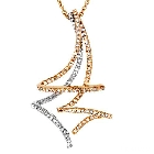 KREMENTZ 14K Two-Tone Gold and Diamond Necklace, 0.75ctw