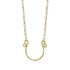 Fifty Shades of Grey Gold Plated Sterling Silver Horseshoe Necklace, 18 Inch