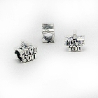 "Cheneya Sterling Silver Bead in ""I LOVE YOU\"" Design"