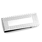 Light Weight High Polished Stainless Steel Money Clip with Stripe Pattern Detail