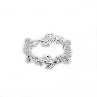 Sterling Silver Eternity Ring with Cubic Zirconia, Size 6