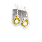 Sterling Silver18K Gold Vermeil and Pearl Earrings