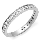 14K White Gold and Diamond Channel-Set Ring, 0.55ctw