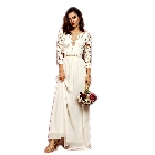 Soieblu, Ivory Crochet Maxi Dress with Cut Out Detail, Small