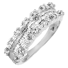 Woman\'s Diamond Ring in 10K White Gold, 0.50ctw
