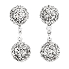 14K White Gold and Diamond Drop Earrings, 1.10ctw