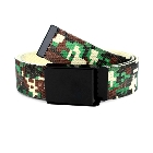 Minecraft Gaming Inspired Pixel Creeper Adjustable Beltin Green, Black and White, Large