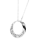 I Love You… More Sterling Silver Circle Necklace
