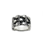 Sterling Silver Skull Ring, Size 9