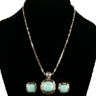 Designer Inspired Turquoise Color necklace and Earring set