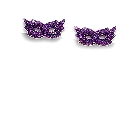 Dramatic Purple Crystal Studded Harlequin Mask Earrings in Sterling Silver