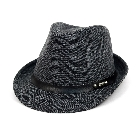 Charcoal Colored Winter Warm Trilby Fedora Hat with Black Band, L/XL