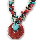 Coral Disc Necklace