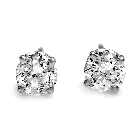 14K White Gold Diamond Stud Earrings, 0.75ctw