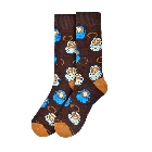 Mens Coffee, Latte, Espresso Novelty Socks in Brown, Blue and Beige